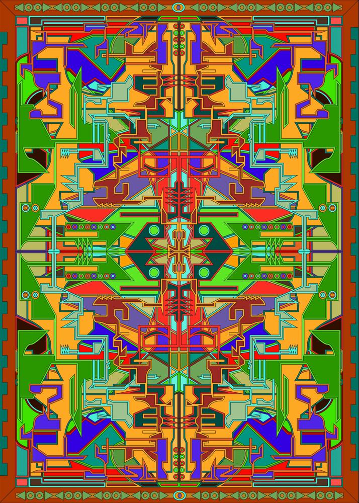 DRAGONFLY BY FELIX CULPA #art #geometric #mosaic #abstract #illustration #graphicart