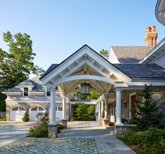 Image Result For Carport Under Modern House: Stone Driveway, Stone Exterior