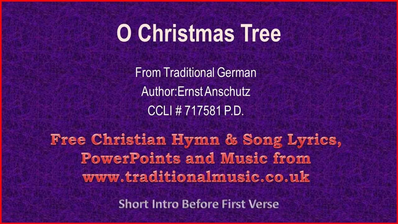 O Christmas Tree O Tannenbaum Corrected Christmas Carols Lyrics Music Hymns Lyrics Christmas Carols Lyrics Lyrics