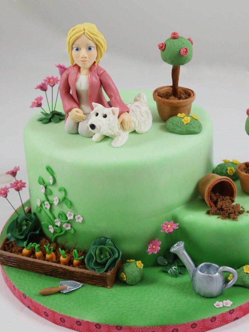 Gardener Cake Torte Gartnerin Garten Hund Gemuse Vegetables Themenbezogene Torten Motivtorten Torten