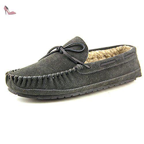 Minnetonka Casey 4150, Mocassins Homme, Gris (Charcoal), 44 EU - Chaussures