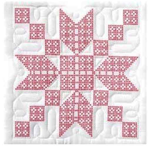 QUILT STAMPED CROSS STITCH   STEPPING STONES QUILT SQUARES/6 ... : stamped cross stitch quilt kits - Adamdwight.com