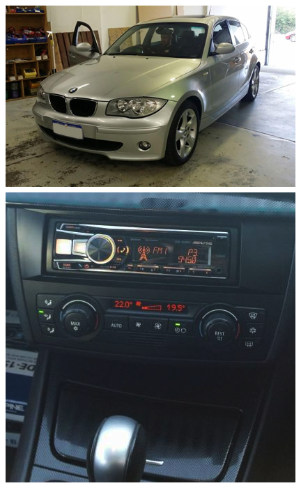 This Bmw 120i Was Given A Face Lift With This An Alpine Cde 154ebt