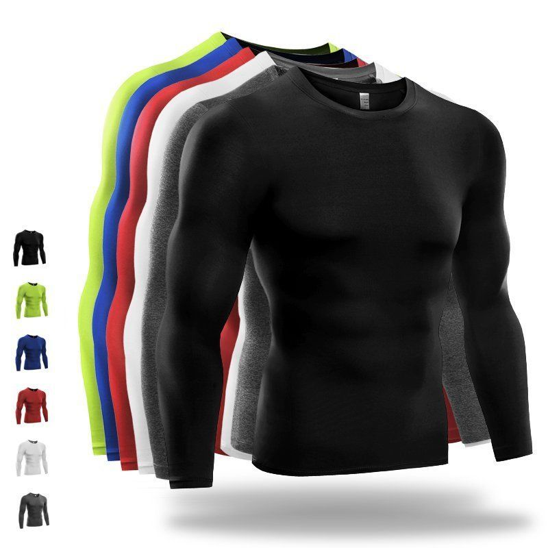 Details About Men S Compression Shirt Running Gym Tops Fitness
