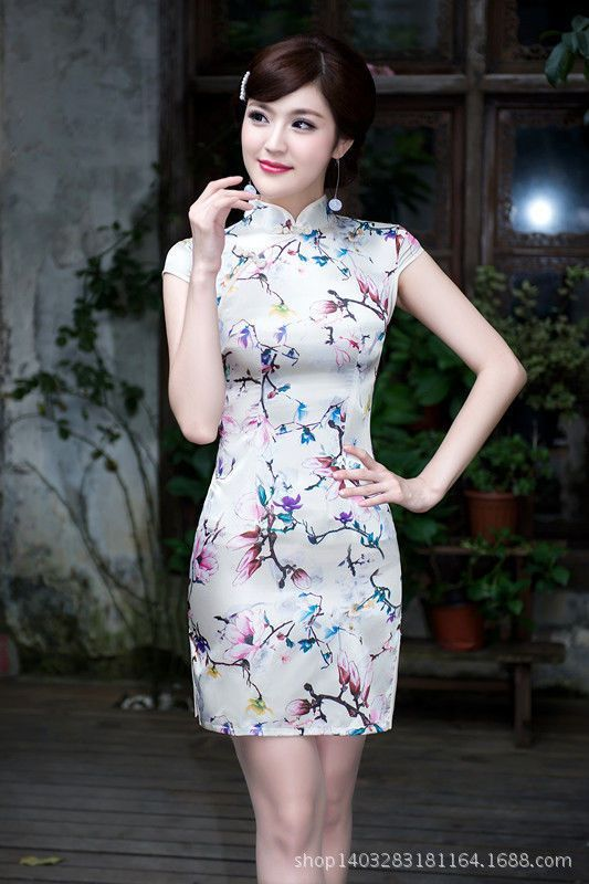 f42c5ecc674b Silk Chinese Women'S Mini Dress /Cheongsam Size 6 8 10 12 14 ...