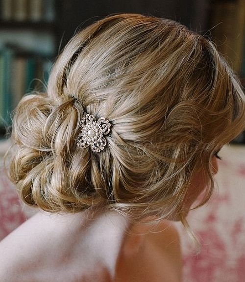 Low Loose Bun Hairstyles For Weddings: Chignon, Low Chignons, Low Bun Hairstyles For Brides