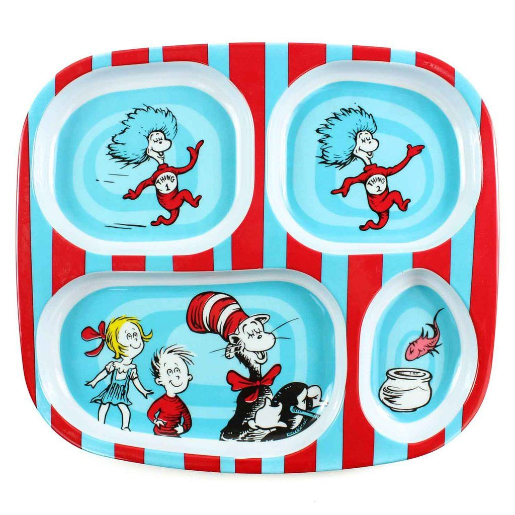 Dr. Seuss Melamine Divided Plates  sc 1 st  Pinterest & Dr. Seuss Melamine Divided Plates | Divided plates and Products