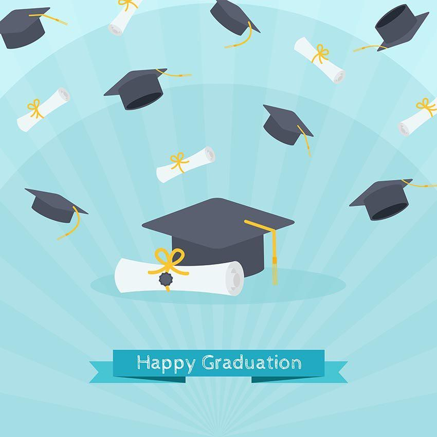 Golden Graduation Party Congratulations Books Hat Photography Backgrounds Banner Custom Photo Bac Background Banner Background For Photography Graduation Party