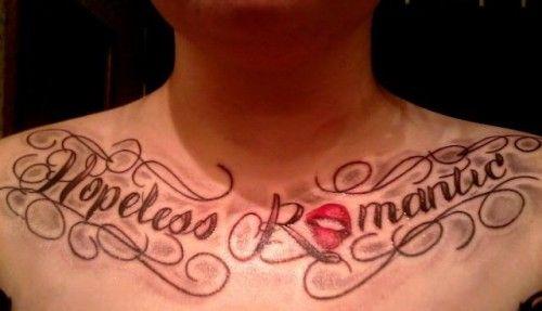 Hopeless romantic tattoo designs