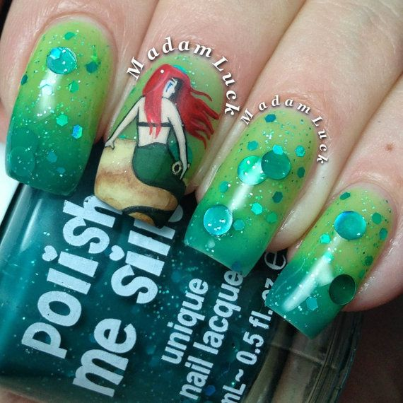 Mermaid Tears- -Color Changing Thermal Nail Polish: Custom-Blended ...