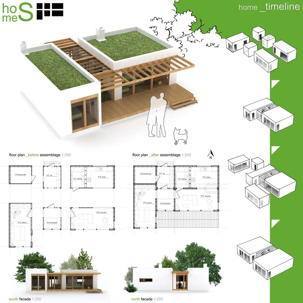 Winners of habitat for humanity 39 s sustainable home design for Green building plans