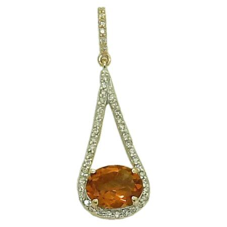 Citrine Necklace with 0.24 cttw. Diamonds https://www.goldinart.com/shop/necklaces/colored-gemstones-necklaces/citrine-necklace-0-24-cttw-diamonds