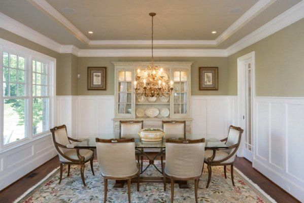 If you like millwork you will love this dining room that for Crown molding ideas dining room