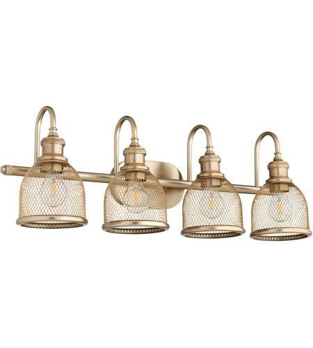 Photo of Omni 4 Light 31 inch Aged Brass Vanity Light Wall Light
