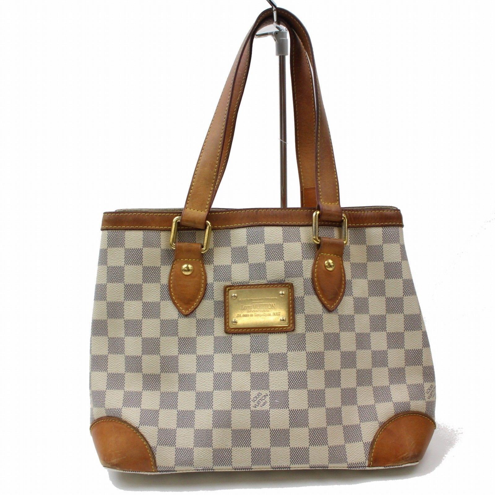 4a164f25ae11 Louis Vuitton Hampstead PM N51207 White Damier Azur Tote Bag 11136 ...