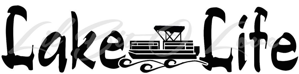 Details about Pontoon Life Vinyl Decal Party Boat Sticker Fishing