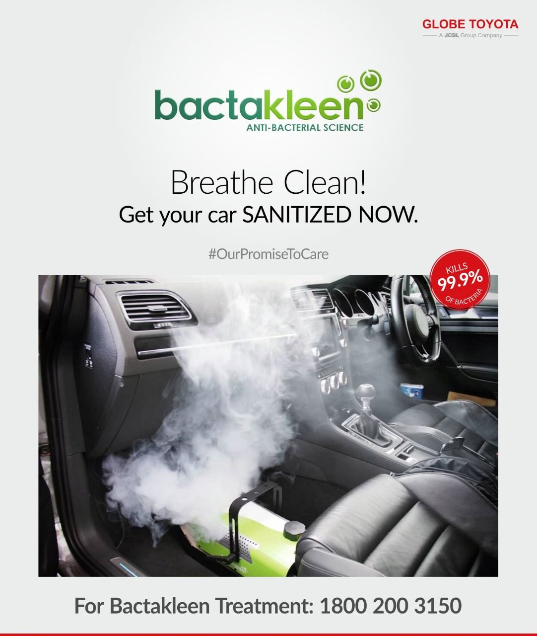 Sanitize your car Globe Toyota in 2020 Car care