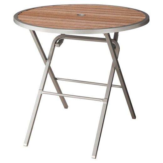 Payless Furniture Store Dining Room Tables: Bryant Faux Wood Folding Round Patio Dining Table