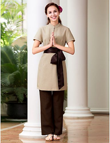 Spa uniforme massage spa pinterest spa uniform for Uniform for spa staff