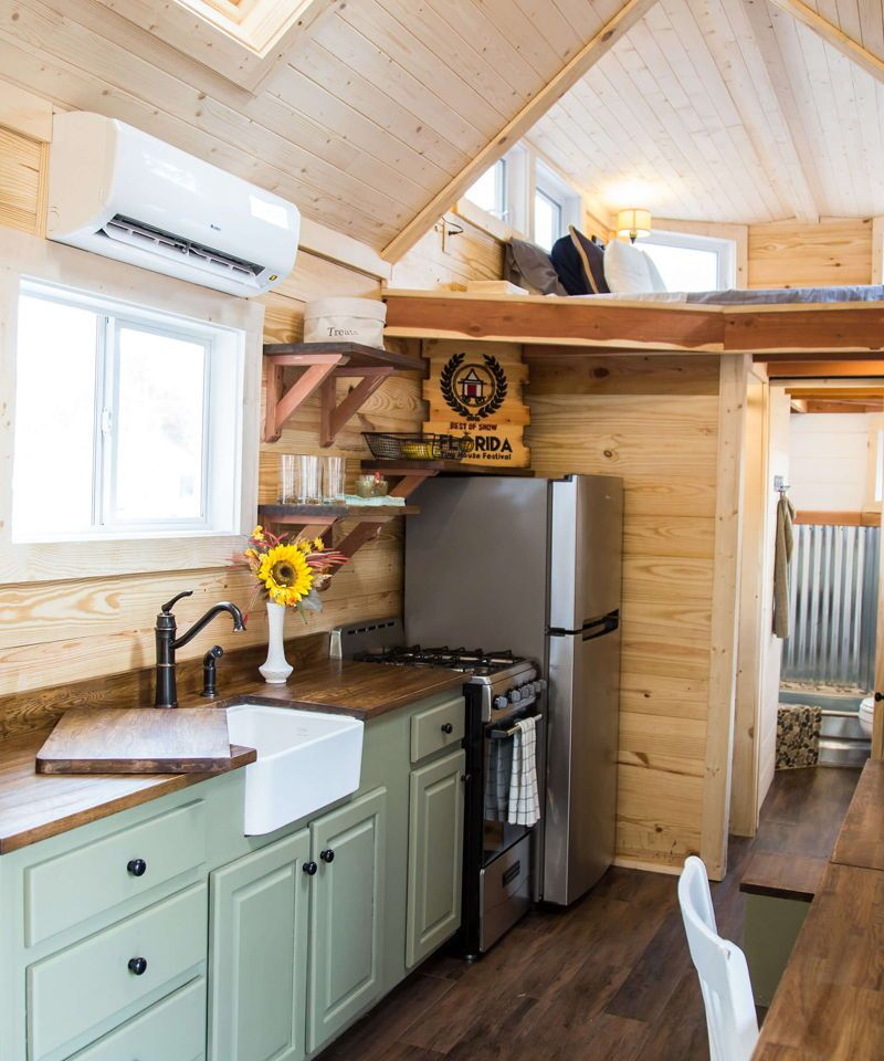 Skyline by Free Range Tiny Homes Small cabin kitchens