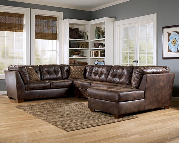 Frontier - Canyon Faux Leather Sectional | Marjen of Chicago | Chicago Discount Furniture : leather sectional chicago - Sectionals, Sofas & Couches