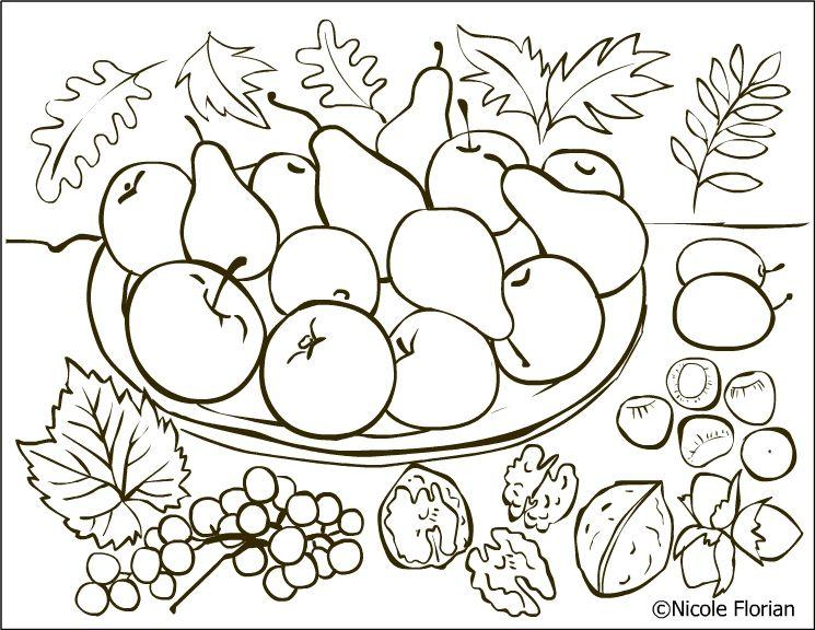 Free Coloring Pages Autumn Fruits Page Desene De Colorat Cu Toamna