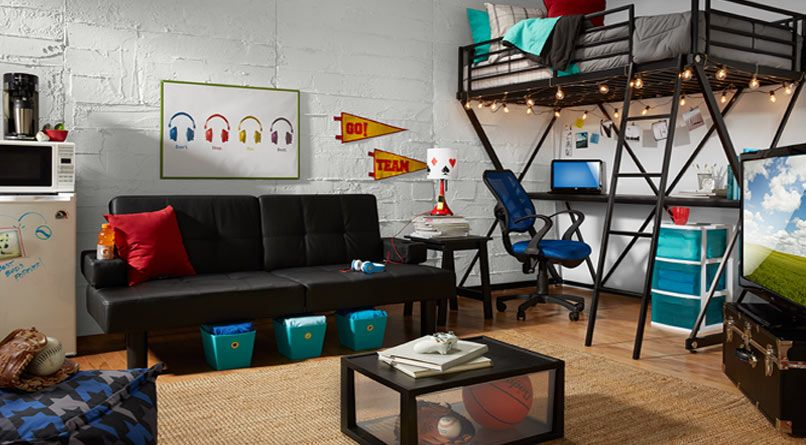 Pin By Hoodiepillow On College Dorm Gear Dorm Living Room Cool Dorm Rooms College Living Rooms