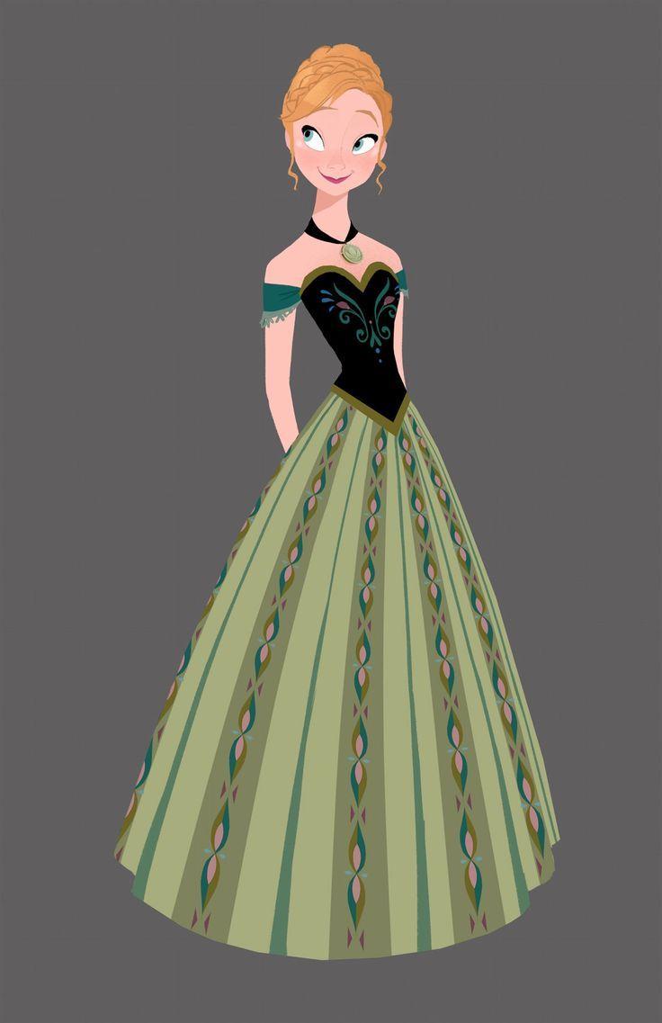 戴冠式の時のドレス。ぼさぼさの寝癖姿からこんなに綺麗に