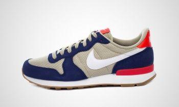 Neu Nike Internationalist BeigeBlau Turnschuhe Damen Auf