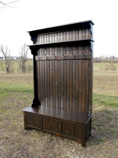 Hall Tree Reclaimed Barn Wood With Storage