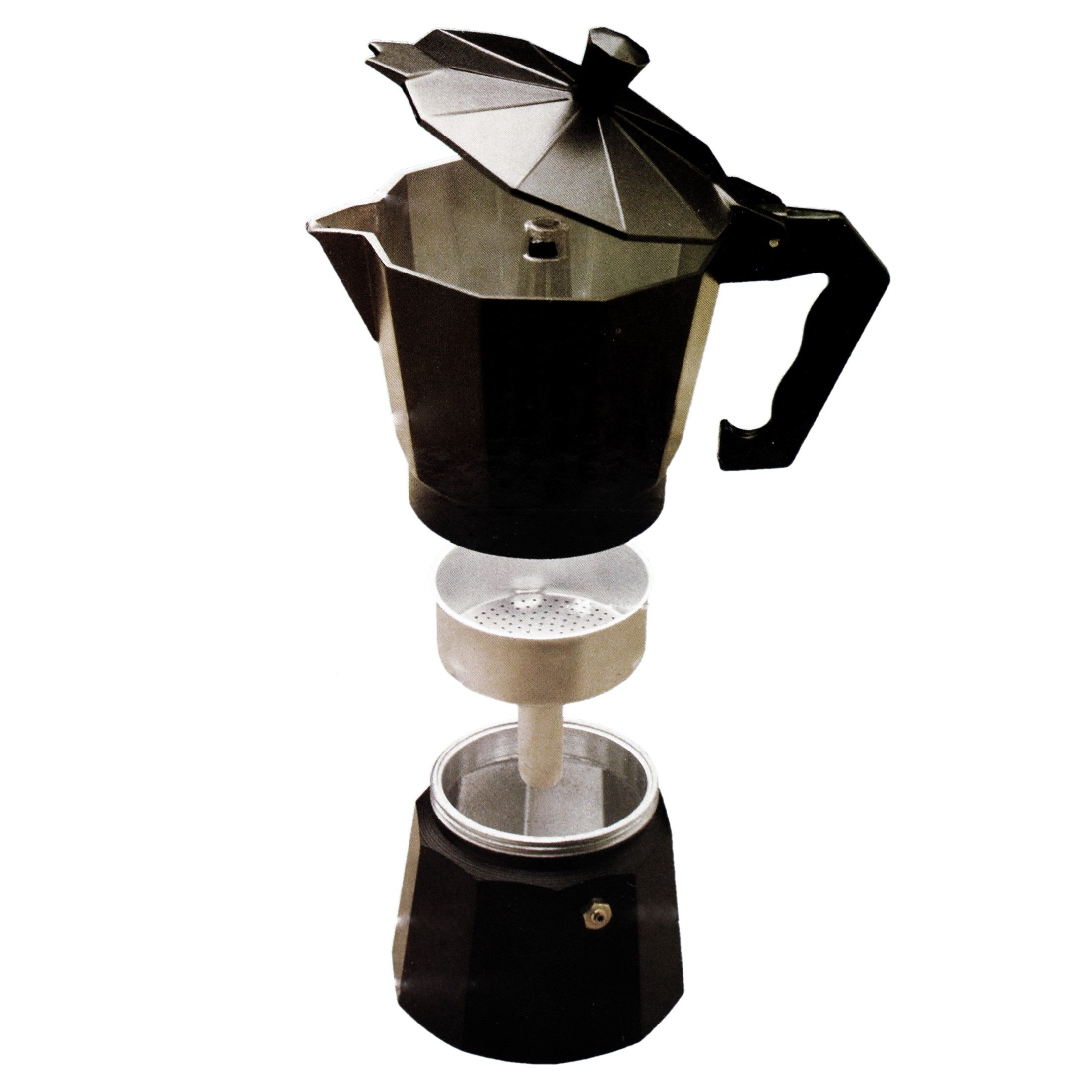 Mexican Fiesta Black Coffee And Espresso Maker, 6 Cup