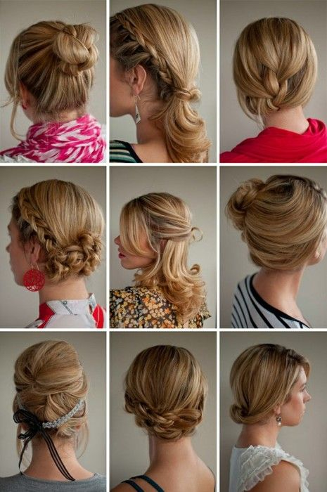 some pretty hair styles for bride or bridesmaids