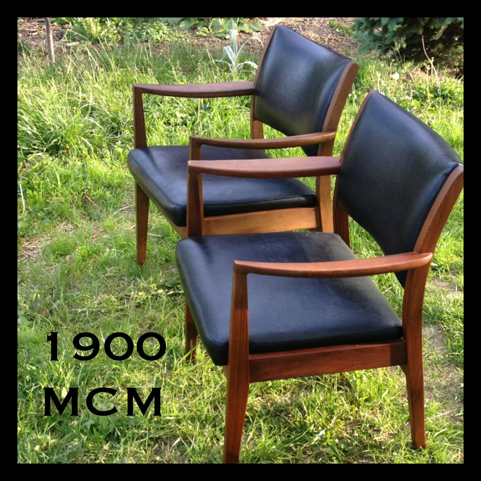 Mid Century Modern Chairs By Taylor Chair Co Solid Wood