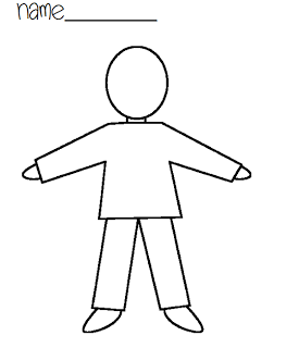 Back To School And Writing Tunstall S Teaching Tidbits Body Outline Body Template Person Outline