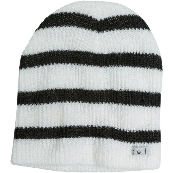 Neff Daily Stripe Beanie ($15) ❤ liked on Polyvore featuring accessories, hats, stripe beanie, striped beanie, striped slouchy beanie, logo beanie hats and striped beanie hat