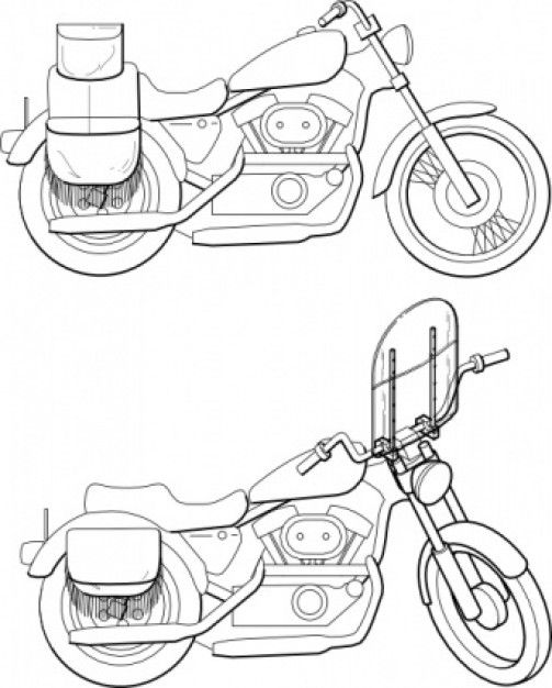 Image Detail For Motorcycle Windshield Clip Art