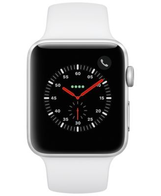 quality design 43424 9c30b Apple Watch Series 3 Gps + Cellular, 42mm Silver Aluminum Case with ...