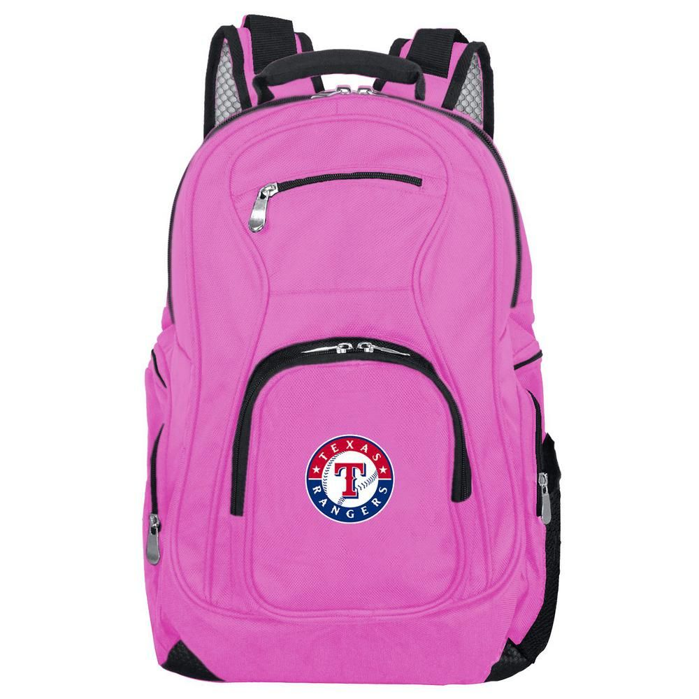 Denco MLB Texas Rangers 19 in. Pink Laptop Backpack-MLTXL704_PINK