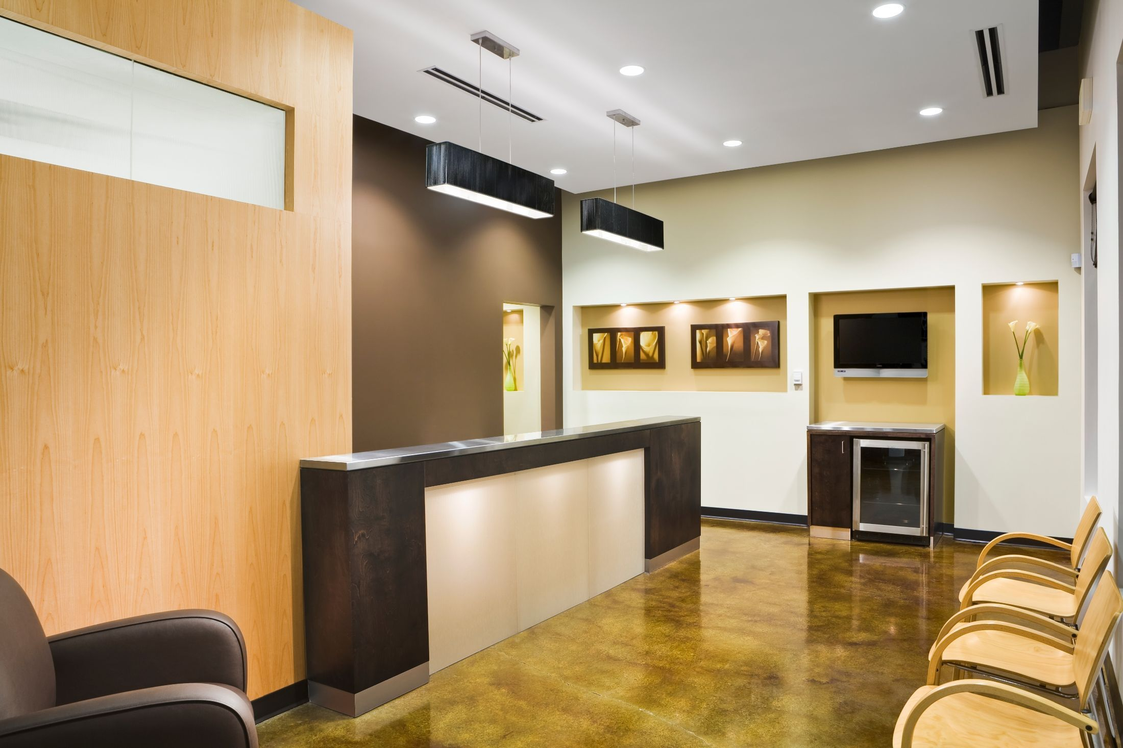Unique Dental Office Reception Design