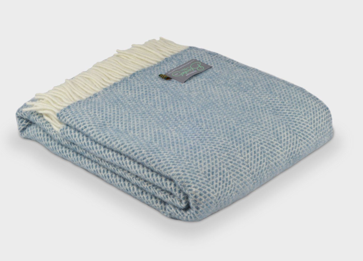 735ecf667a Petrol Blue Beehive Throw - The British Blanket Company