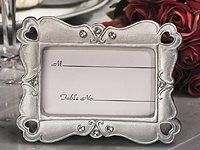 Stylish Silver Hearts Picture Frame Favors
