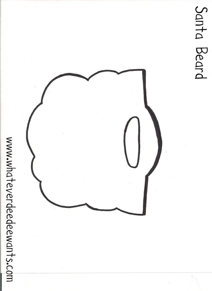 santa beard template for kids printable | santa beard! For my kiddos ...