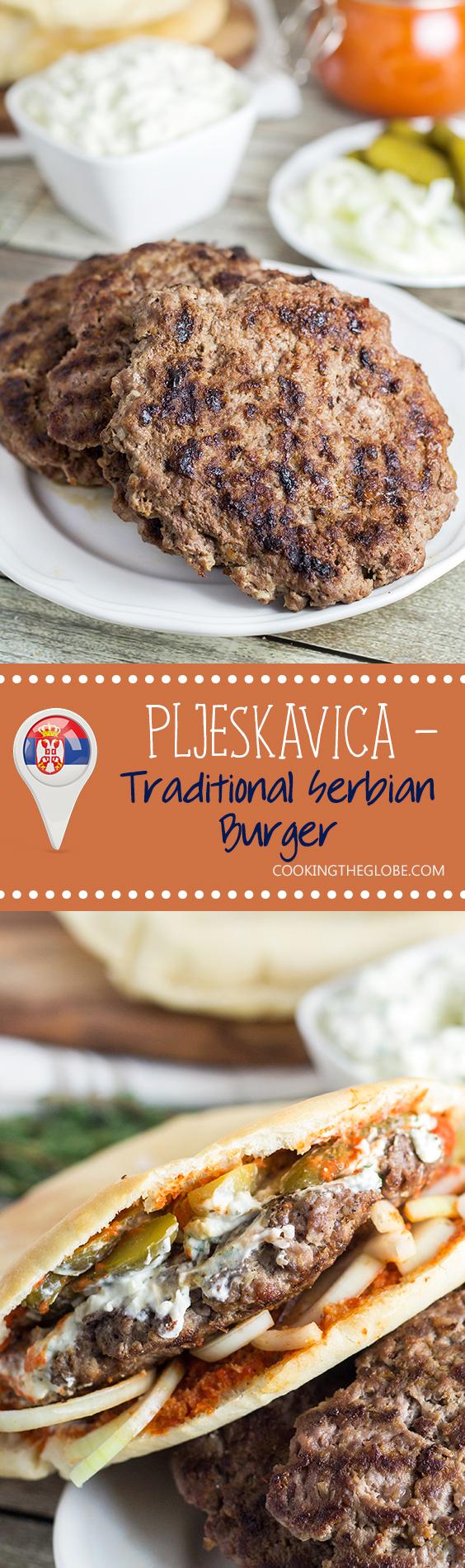 Pljeskavica - Traditional Serbian Burger Recipe #mazedonischesessen