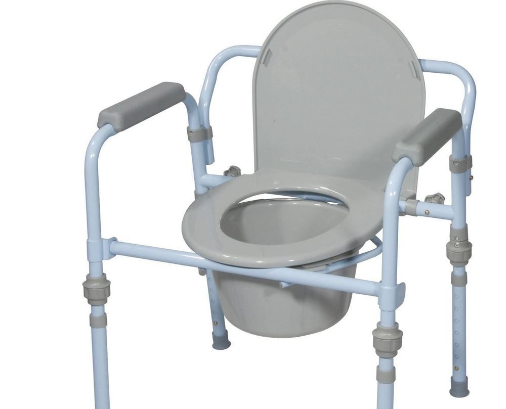 Commode Chair Bedside For Toilet Drive Medical Folding Seat Bucket ...