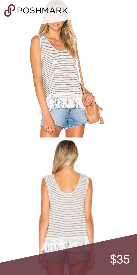 3b7b1a067bf16 BB Dakota Nessa Fringe Trim Tank Top Scoop neck tank top