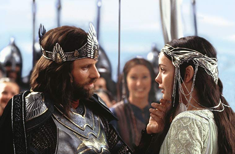 The Lord Of The Rings The Return Of The King 2003 Aragorn And Arwen Lord Of The Rings Aragorn