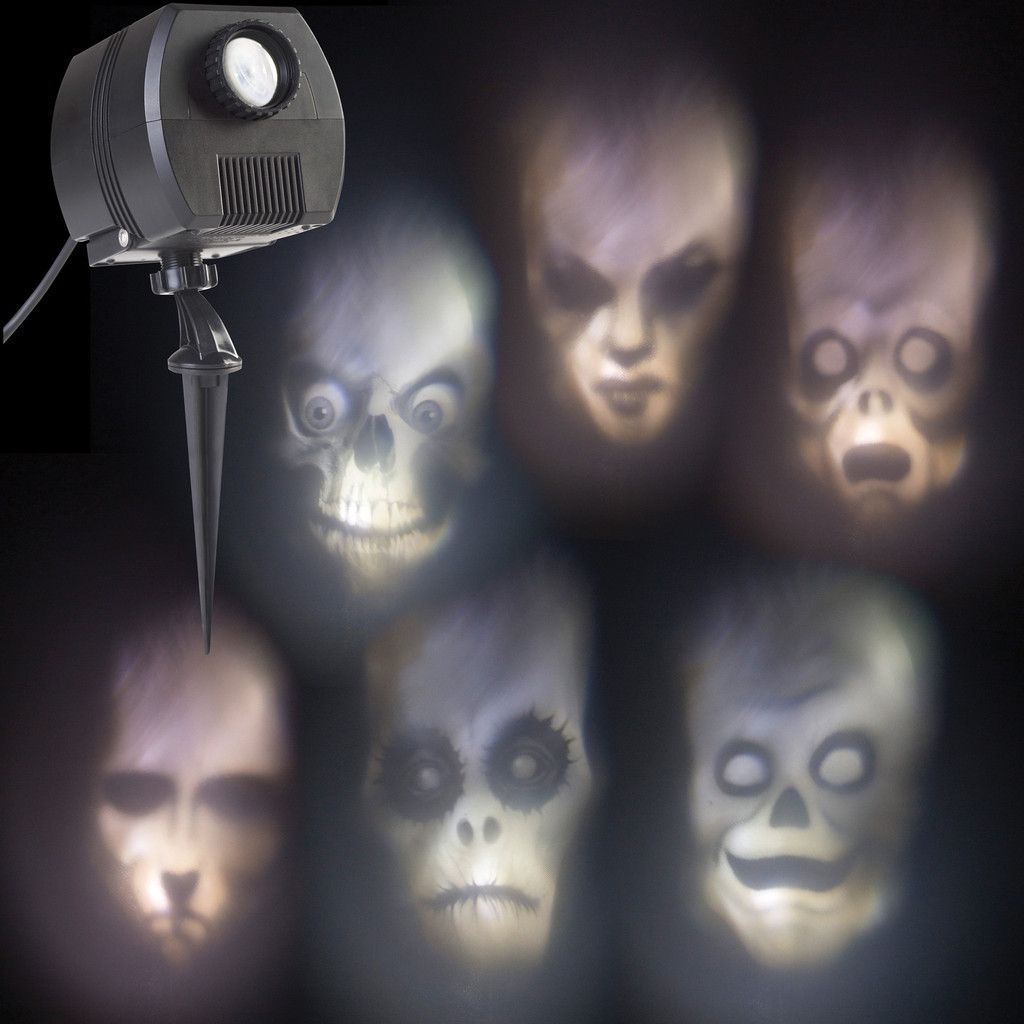 Outdoor Halloween Props Animated Ghostly Face Projector Halloween Yard Prop Halloween