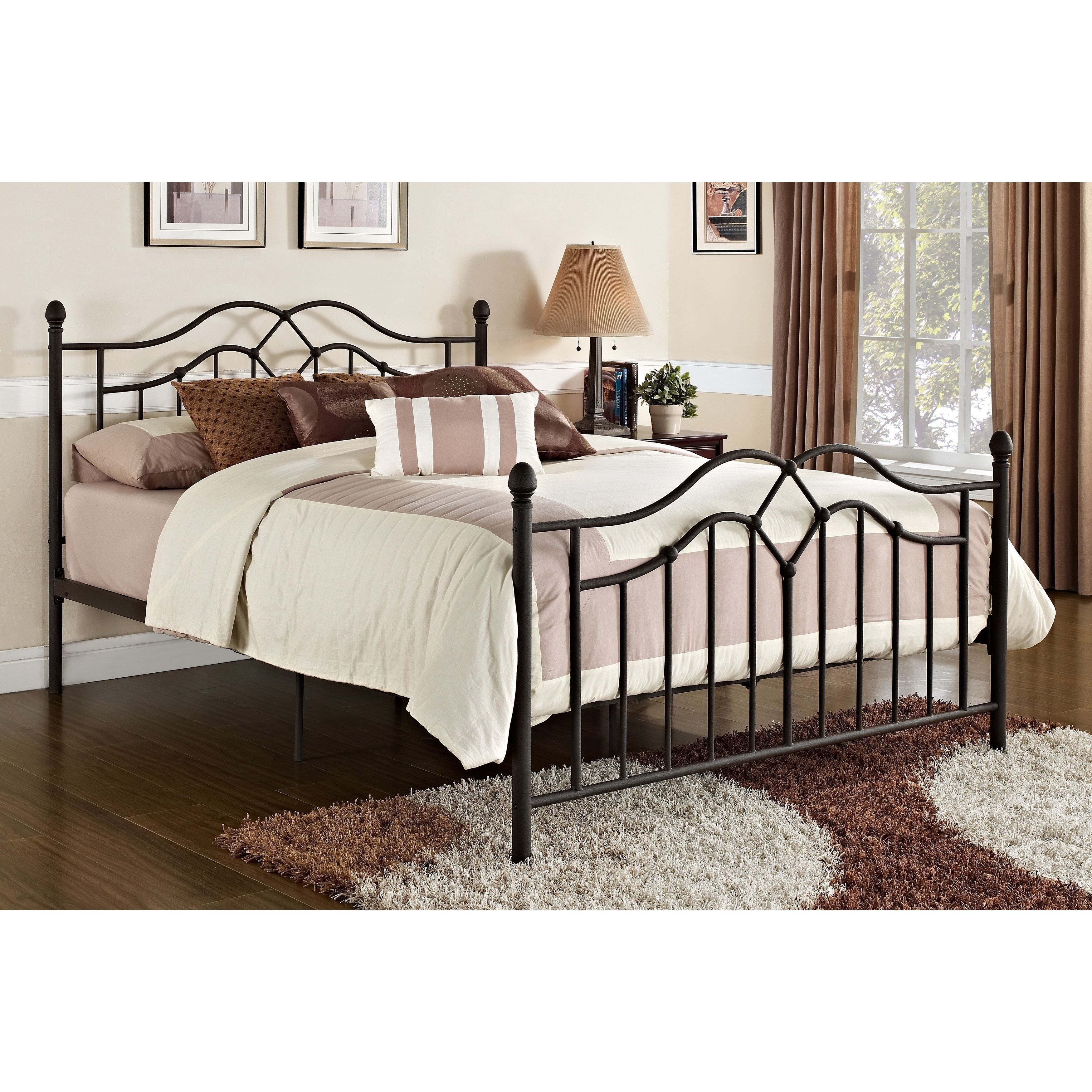 The DHP Tokyo Metal Bed is a tasteful welcome to any bedroom. The ...
