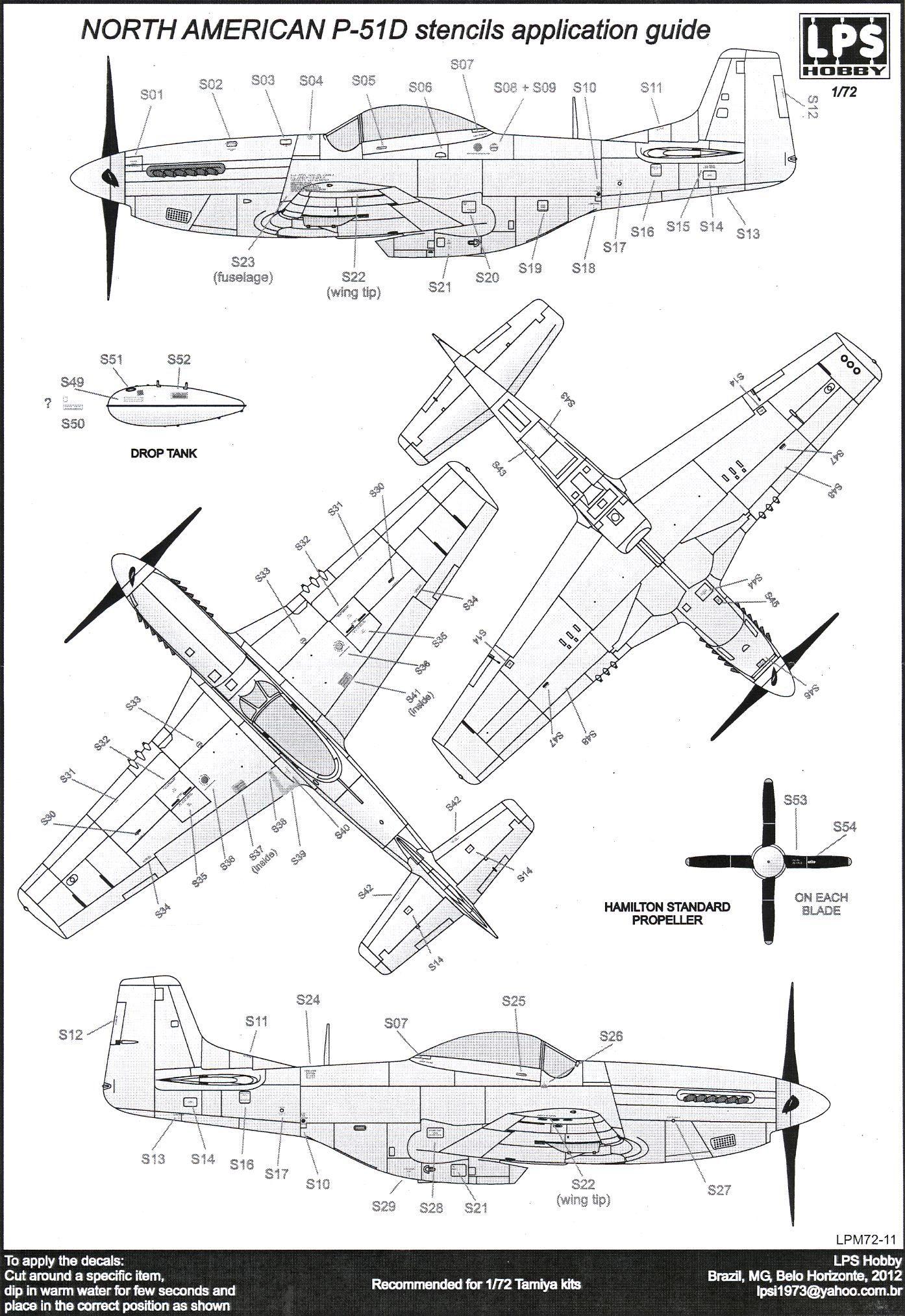 Resultado De Imagen De P 51 Mustang Technical Stencils