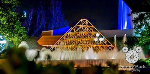Facebook Cover Photo - Epcot - Future World - Imagination Pavilion - Fountains at Night